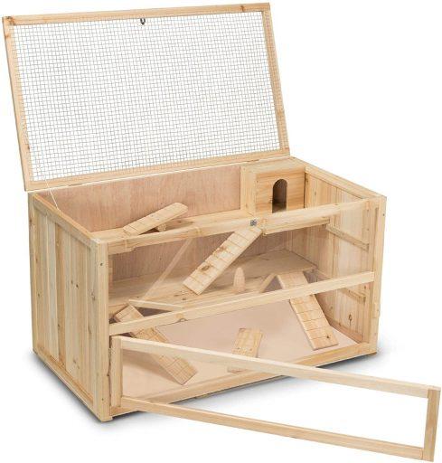 Jaula Timbo conejera de madera para hamsteres y cobayas